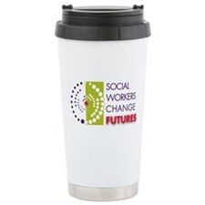 Social Workers Change Futures Ceramic Travel Mug