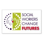 Social Workers Change Futures Sticker (Rectangle)
