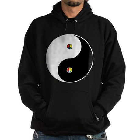 Peace Sign Dao Men's Dark Hoodie
