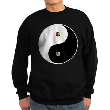 Peace Sign Dao Men's Dark Sweatshirt