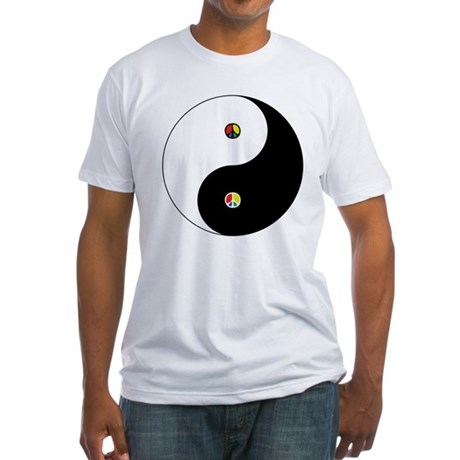 Peace Sign Dao Men's Fitted T-Shirt