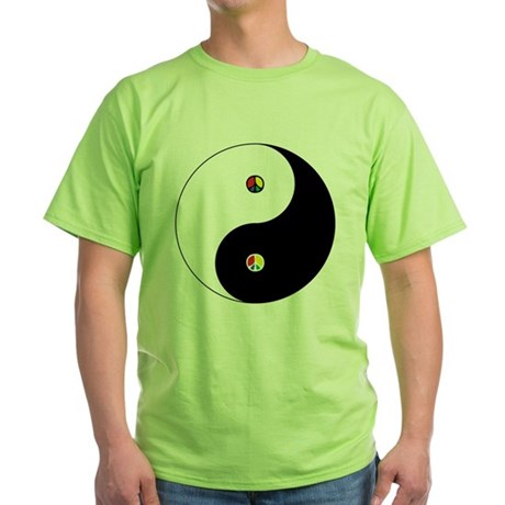 Peace Sign Dao Green T-Shirt