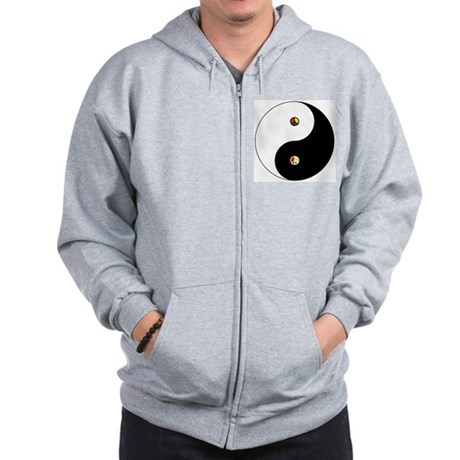 Peace Sign Dao Men's Zip Hoodie