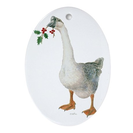Goose Tree Ornament (Oval)
