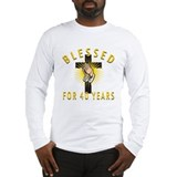 Blessed For 40 Years Long Sleeve T-Shirt