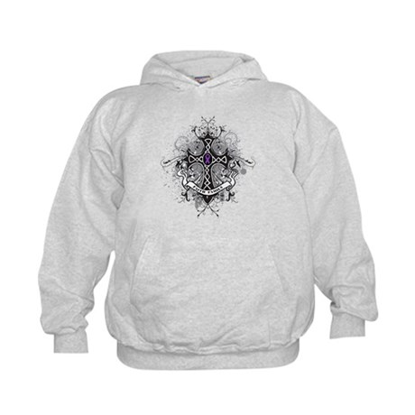 Pancreatic Cancer FaithCross Kids Hoodie