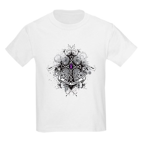 Pancreatic Cancer FaithCross Kids Light T-Shirt