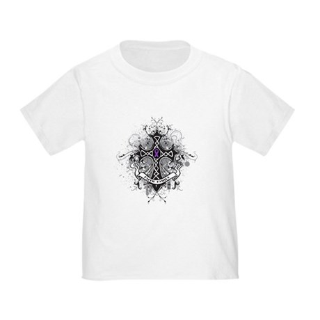 Pancreatic Cancer FaithCross Toddler T-Shir