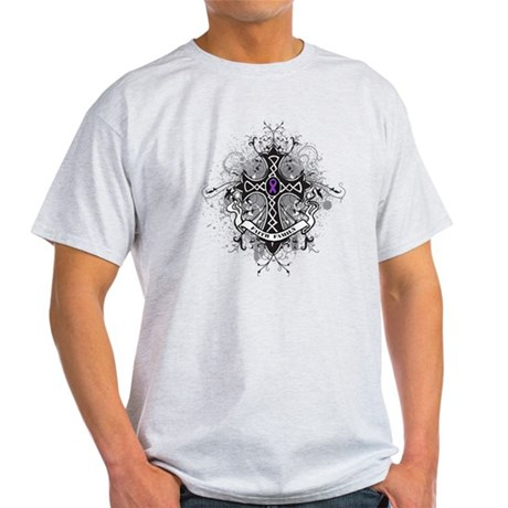 Pancreatic Cancer FaithCross Light T-Shirt