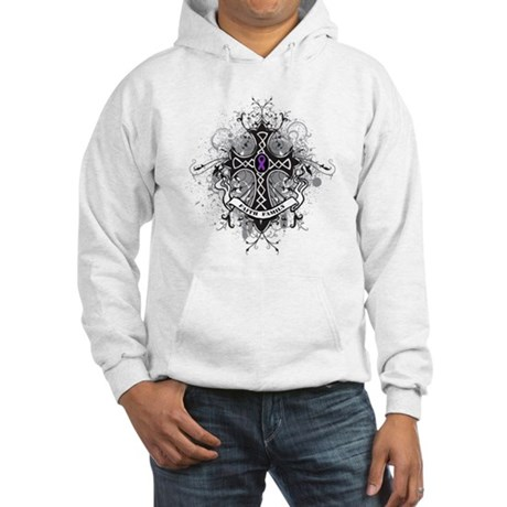 Pancreatic Cancer FaithCross Hooded Sweatshirt