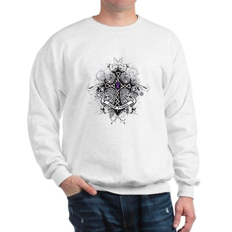 Pancreatic Cancer FaithCross Sweatshirt
