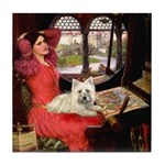 Lady (S) - Cairn Terrier 4 Tile Coaster