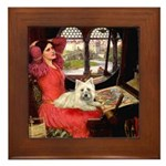 Lady (S) - Cairn Terrier 4 Framed Tile