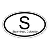 S - Steamboat, Colorado Decal