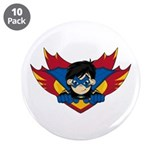 "Cute Masked Superhero 3.5"" Button (10 pack)"
