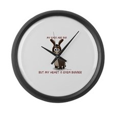 Ears big, Heart bigger Large Wall Clock