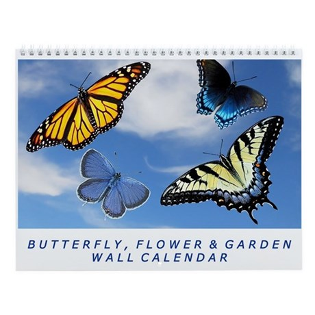 Assorted Butterfly Photography Wall Calendar