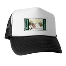 Christmas Stamp Trucker Hat