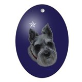 Mini Schnauzer Xmas Ornament (Oval)