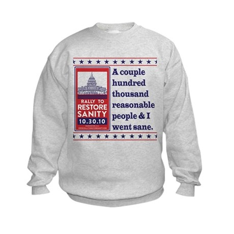 Went Sane Kids Sweatshirt