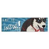 Let it Snow Bumper Car Sticker