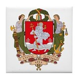 Vilnius Coat of Arms Tile Coaster