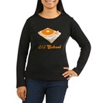 Old School Turntable Women's Long Sleeve Dark T-Sh