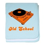 Old School Turntable baby blanket