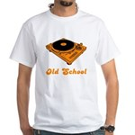 Old School Turntable White T-Shirt