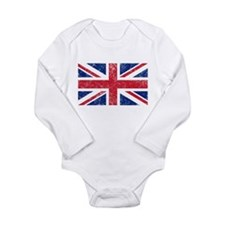 British Flag Long Sleeve Infant Bodysuit