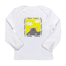 Happy Hippo Long Sleeve Infant T-Shirt