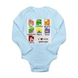 I Love Zoo Animals Long Sleeve Infant Bodysuit