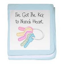 Key to Nana's Heart baby blanket