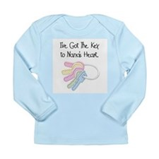 Key to Nana's Heart Long Sleeve Infant T-Shirt