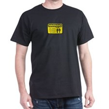 WARNING Gay Men Black T-Shirt