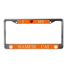 Orange I Love My Siamese Cat Frame