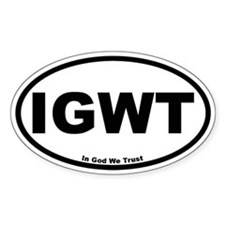 IGWT Oval Sticker (In God We Trust)