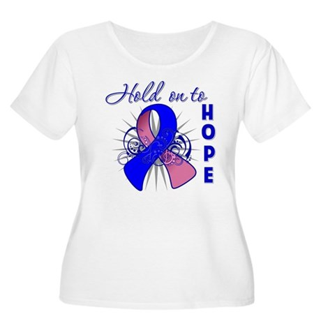 Male Breast Cancer Women's Plus Size Scoop Neck T-