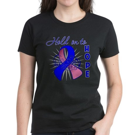 Male Breast Cancer Women's Dark T-Shirt