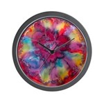 Silk Mandala #2 - Wall Clock