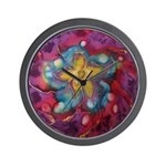 Silk Mandala #1 - Wall Clock