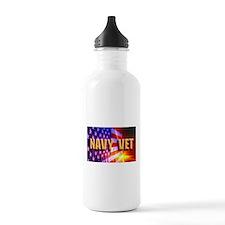 Navy Vet bur Water Bottle