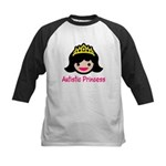 Autistic Princess Kids Baseball Jersey