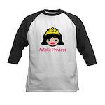 Autistic Princess Kids Baseball Jersey