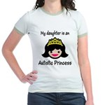 Autistic Princess Jr. Ringer T-Shirt