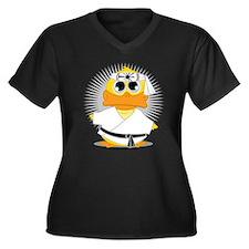 Karate Duck Women's Plus Size V-Neck Dark T-Shirt