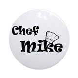 Chef Mike Ornament (Round)