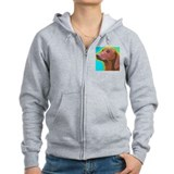 Smooth Dachshund Zip Hoody