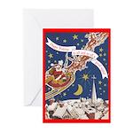 Santa's Sleigh Festivus Cards (Pk of 10)