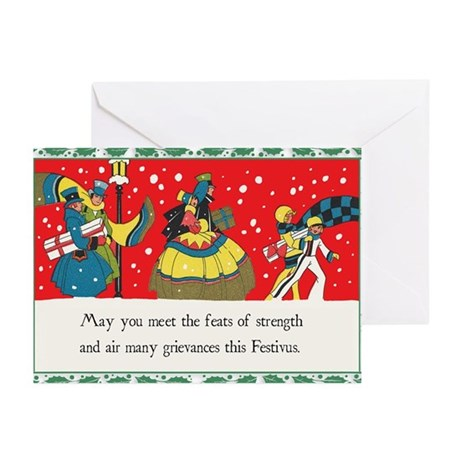 """Holiday Shoppers"" Festivus Card (Pk of"